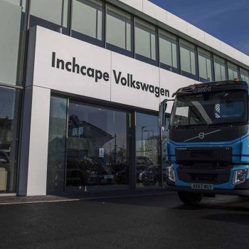 commercial waste collection at Inchcape Volkswagen