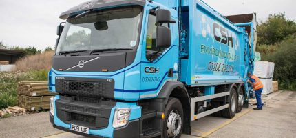 CSH rearend waste collection truck