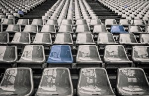 Artistic shot of Stadium Seats