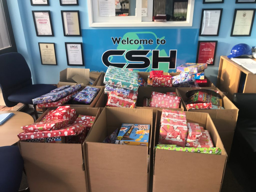Christmas Charity Appeal packages from CSH Environmental